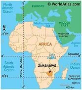 Zimbabwe Map from World Atlas
