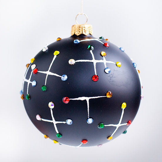 """#2165 - Thomas Glenn """"Analog"""" Ball Christmas Ornament"""