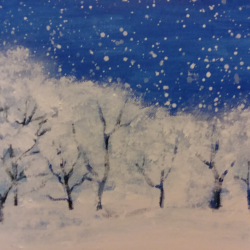 A Brush with Wine/Snow Scape