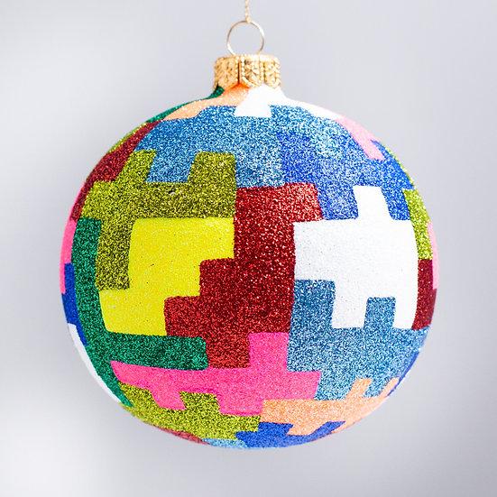 "#2105 - Thomas Glenn ""Metro"" Ball Christmas Ornament"