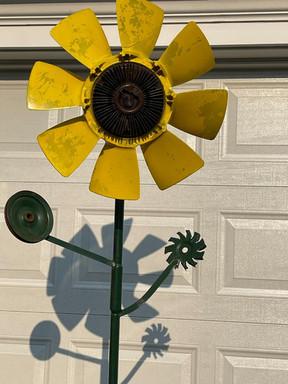 Pete Zinck, Sunflower Fan, $400