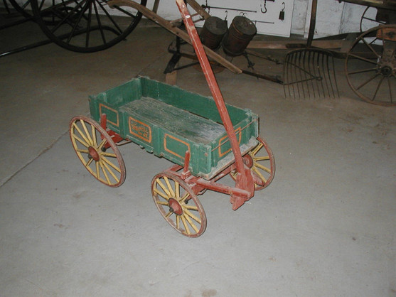 Wagon, all wood, Circa 1800's; Thornhill Farm.