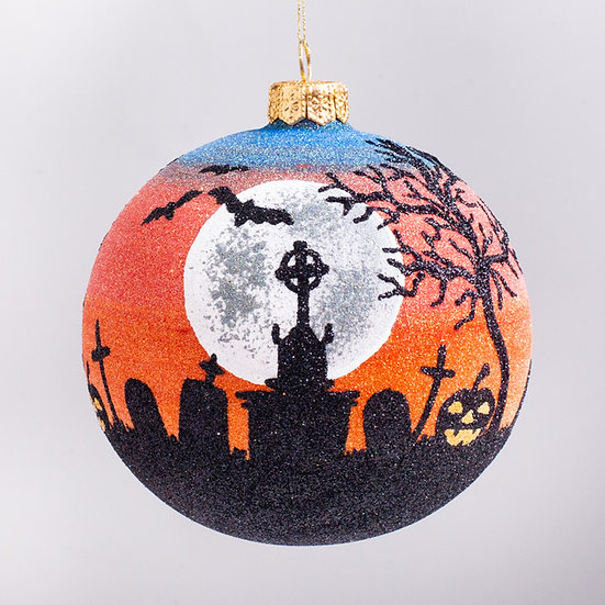 "#2194 - Thomas Glenn ""Graveyard"" Ball Halloween Ornament"