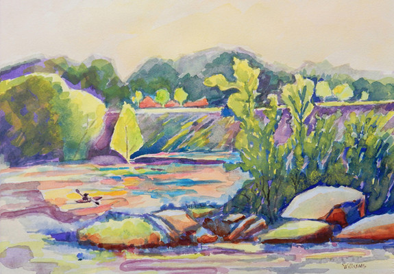 Nancy Williams_Downstream Paddler_ water