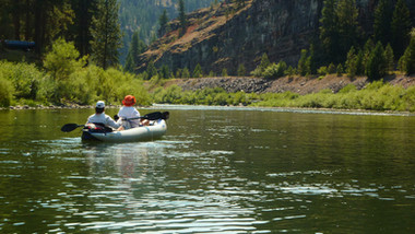 Kayaking the Blackfoot River in Montana