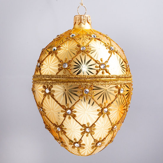 "#2191 - Thomas Glenn ""The Golden Egg"" Faberge Egg Christmas Ornament"