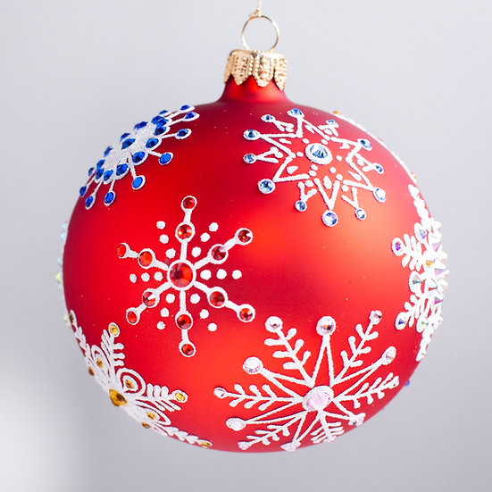 "#2161 - Thomas Glenn ""Let It Snow - Red"" Ball Christmas Ornament"
