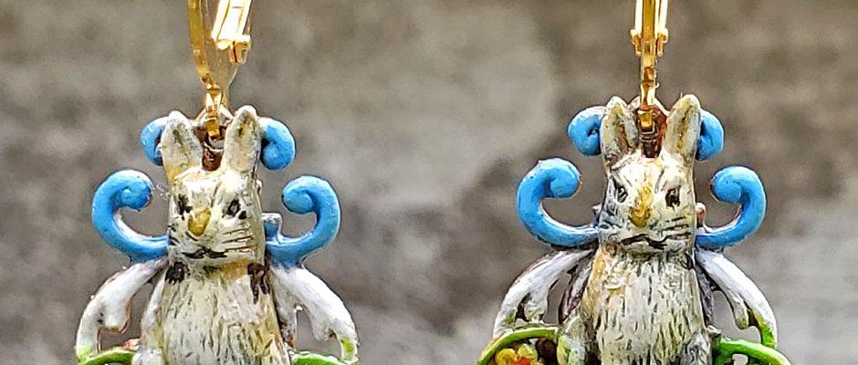 Woodland Rabbit Earrings