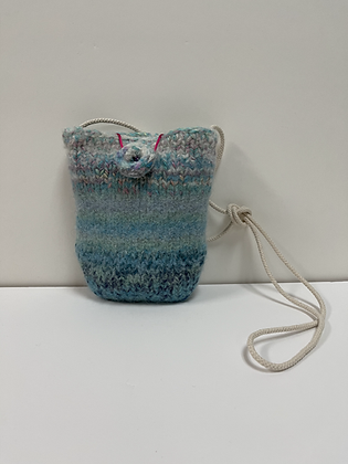 Turquoise Dream Hand Felted Purse