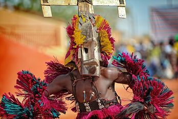 African dancer with mask