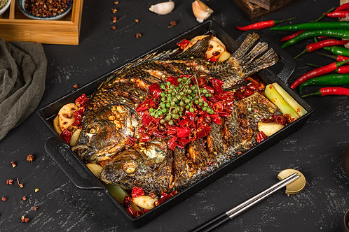 GARLIC FLAVOR GRILLED TILAPIA (Cooked) 2.2lb