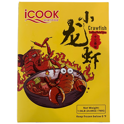 iCook Crawfish Traditional Herbal Flavor   1.5 LB/Box