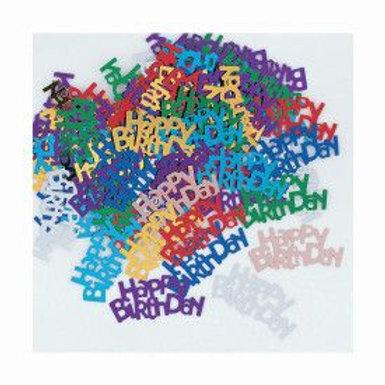 Confetti Happy Birthday Multi .5Oz