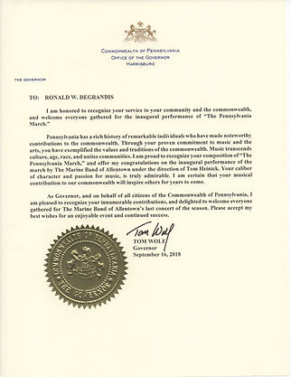 PA Governor Wolf Proclamation