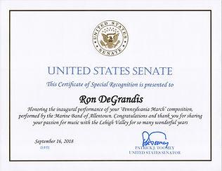 PA Senator Pat Toomey Proclamation