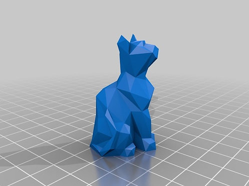 Chat low poly décoration