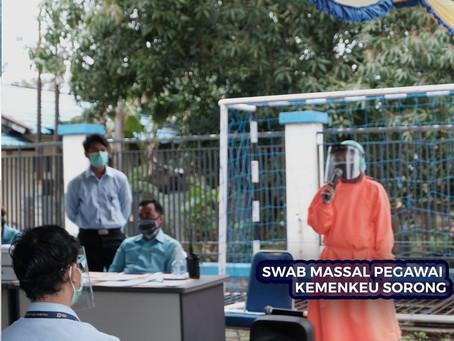 SWAB MASSAL PEGAWAI KEMENKEU KOTA SORONG