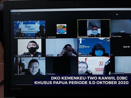 DKO Kemenkeu-Two Kanwil DJBC Khusus Papua periode s.d Oktober 2020