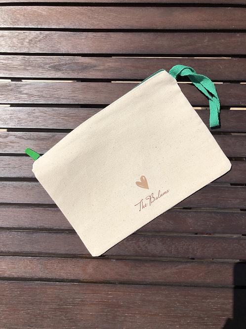 Yeşil Fermuarlı Clutch Çanta