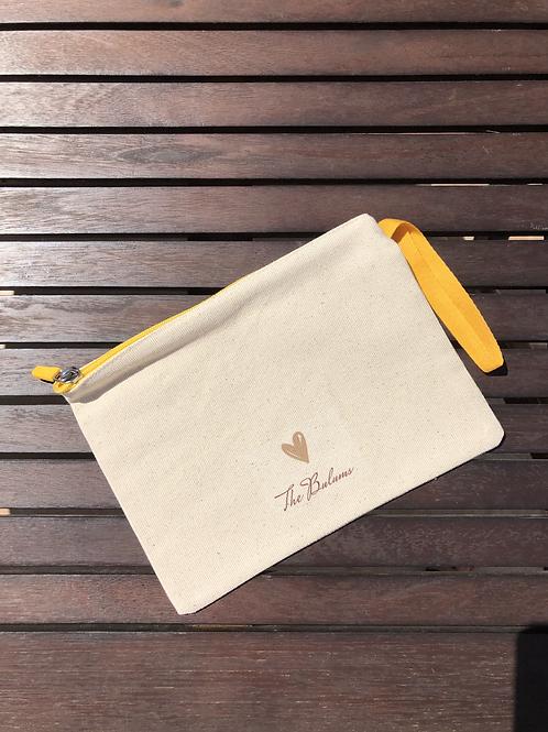 Sarı Fermuarlı Clutch Çanta