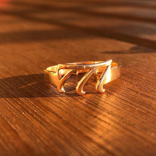Grabovoi Sekanslı Rose Gold Gümüş Yüzük - Mucizeler Benimle