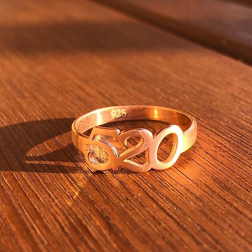 Grabovoi Sekanslı Mat Rose Gold Gümüş Yüzük - Para Mıknatısı