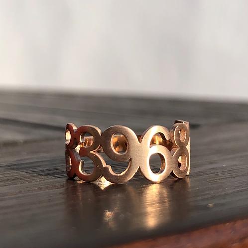 Grabovoi Sekanslı Mat Rose Gold Gümüş Yüzük - Evrensel Şifa