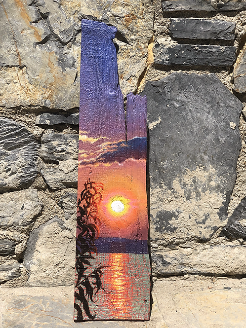 Romance in Sunset Ağaç Tablo