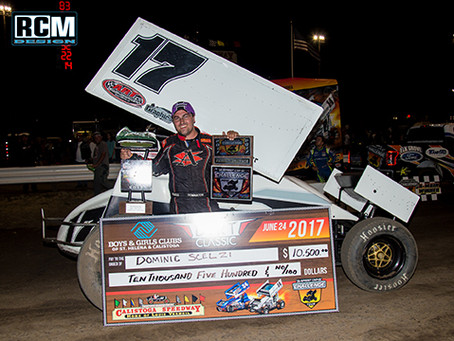 Dominic Scelzi dominates Calistoga feature with SCCT Saturday