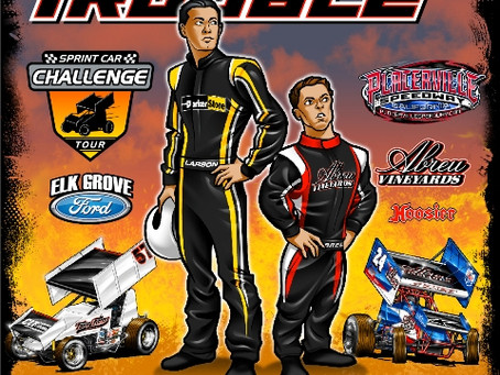 Double Trouble Night featuring Kyle Larson and Rico Abreu coming to Placerville Speedway next Saturd