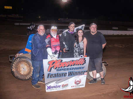 DJ Johnson Scoops Up C&H Hunt Wingless Tour Feature At Placerville Speedway