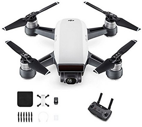 Used White DJI Spark with Remote & Fly More Combo