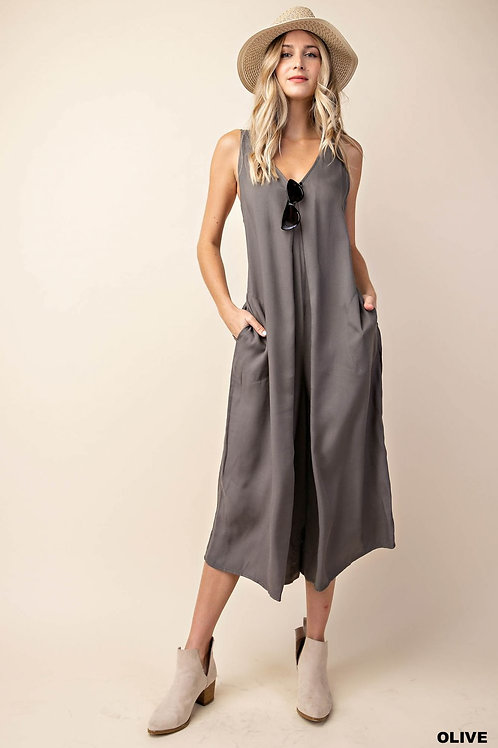 PLEATED C.FRONT JUMPSUIT