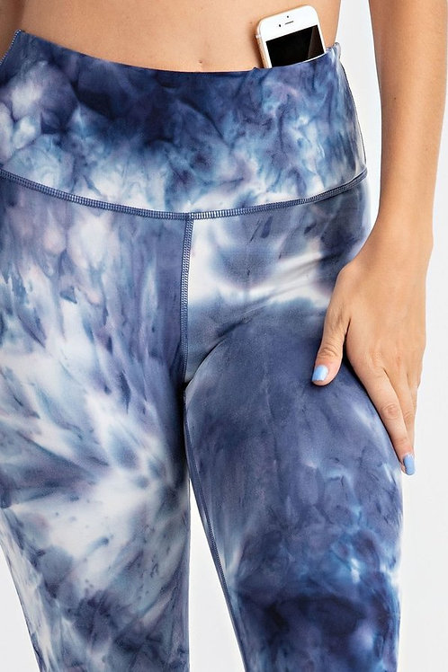 Tie-Dye Full Length Butter Leggings With Key Pocket