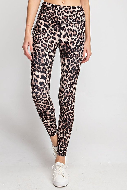 Animal Printed Capri Length Yoga Pant With Key Pocket (Capri Leggings)
