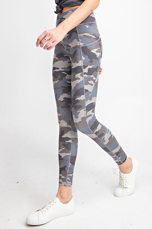 Camouflage print , wide waist band with Yoga stitch Full Length Butter Leggings