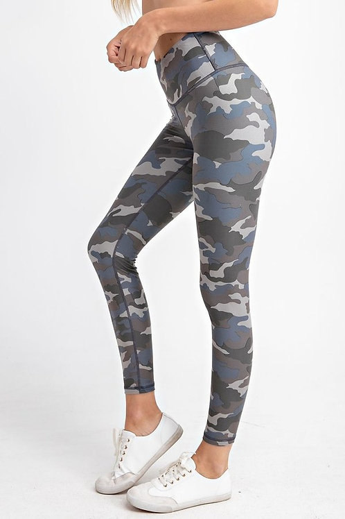 Camouflage print Full length, wide waist band with Yoga stitch leggings, Yoga pa