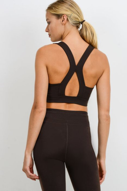 Suspended X Racerback Sports Bra - Black