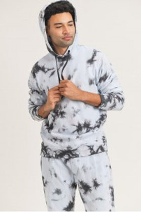 Cotton Terry Tie-Dyed Hoodie Pullover
