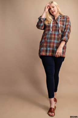 COLOR STITCH BRUSHED THERMAL TOP (Brown)