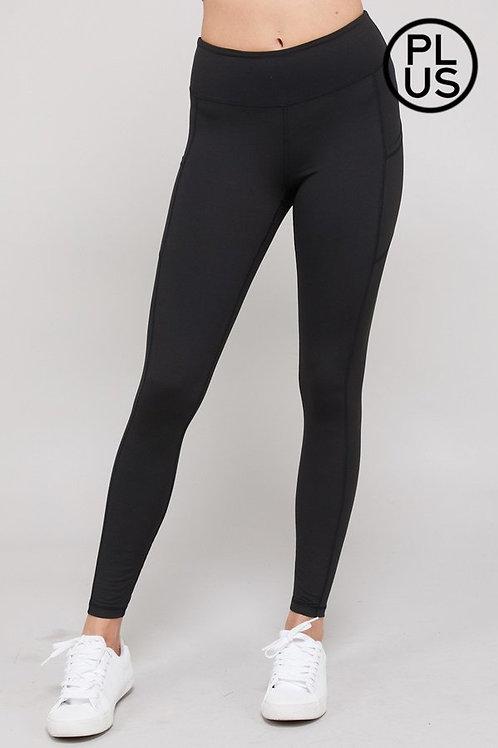 Full length, wide waistband, Butter soft yoga stitch leggings w/side pockets