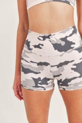 Pink Camo Highwaist Shorts