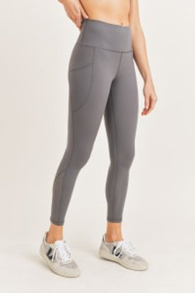 Lycra-Blend Highwaist Perforated Leggings