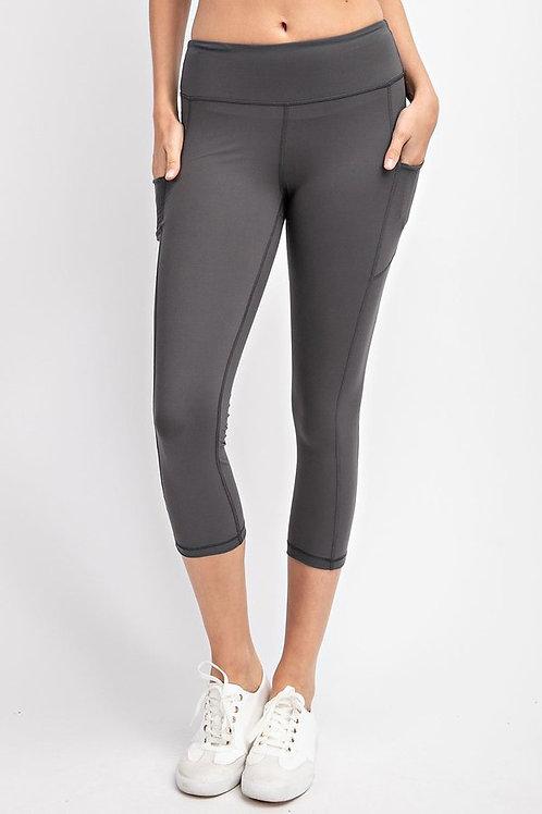 Capri Length Yoga Pants with Pockets, Yoga leggings