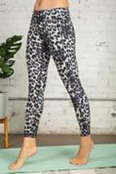 Full Length Animal Print Butter Leggings with Wide Waistband w/Side Pockets