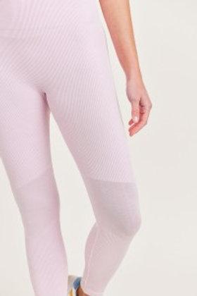 Ribbed Seamless Highwaist Leggings with Slanted Panels