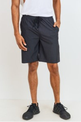 Active Nylon-Blend Shorts with Zippered Pouch