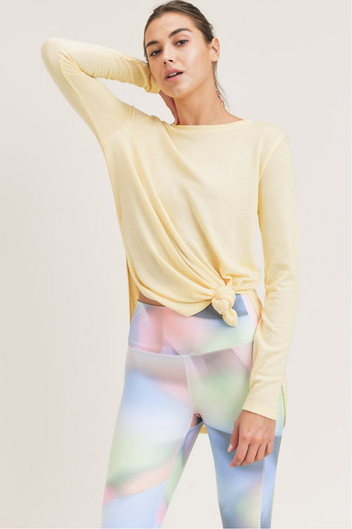 Long Sleeve Flow Top with Side Slits