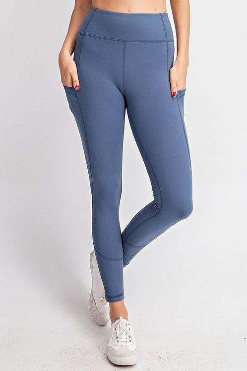 Full Length Wide waist band with Side Pocket Yoga Leggings, Yoga Pants