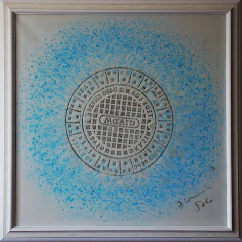 č.292, Mandala, tisk, 2017, olej na plátně, rozměr plátna 90 x 90 cm, cena obrazu 15 000,-Kč